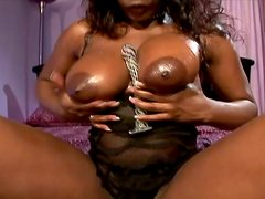 Marvelous Busty Ebony Get Double Penetration By Two White Dicks