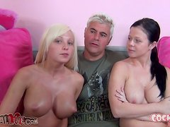 Stunning babes Loni and Rikki are in a group sex