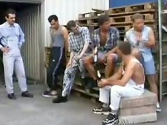 Two Mature Slut Gets Gangbanged By Workers Outdoors