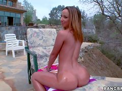 Famous and naughty brunette bombshell Jada Stevens with natural boobs