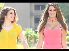 Naughty teens have a lesbian scene you don't want to miss