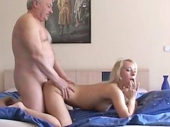 Carla Cox fuck with old fat man Bruce for money