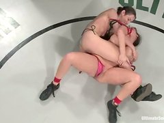 Kinky Amber Rayne and Ava Devine fuck in a ring
