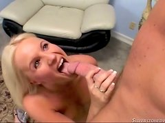 Here is a Blonde Bitch Who Loves Sucking Dick and Cumshots