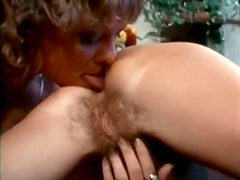 Four eyed chick licks pussy lips of her lesbian girlfriend