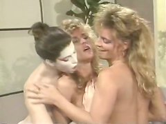 Deep fingering time with three rich breasted lesbians