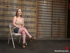 Dominatrix Gets Her Slaves' Breasts Wrapped In Ropes!