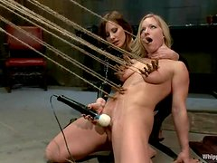 Blonde Dia Zerva gets tortured with clothespins