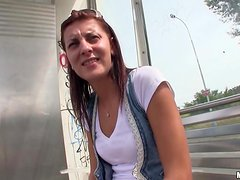 Slutty Petra fucks gets nailed in the street in POV video