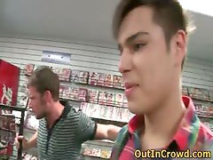 Hot Public Gay Sex in a Video Store part6