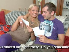This teen couple is having some great sex together, including a good doggystyle pounding