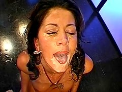 Pornstars Monja and Celine are swallowing some big loads