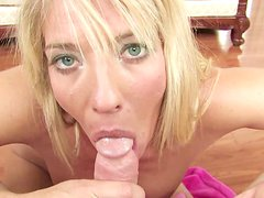 Big-tit chick Jordan Kingsley is sucking a nice pole