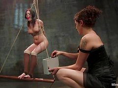 Stunning Raina Verene gets whipped and fisted in femdom video