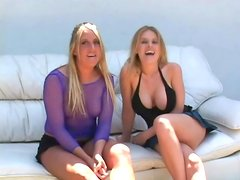 Busty Daphne and Jules get fucked by Black guy outdoors
