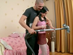 Housework Turns Hardcore When This Couple Ends Up Fucking