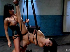 Suspended Skin Diamond gets toyed by Gia Dimarco