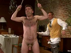 Colton sucks a cock and gets fucked fucked by Nick in BDSM video