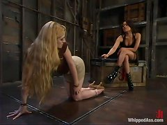 Long-haired blonde gets humiliated and toyed by Annie Cruz