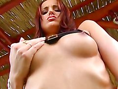 Anal sex outdoors with a slutty redhead