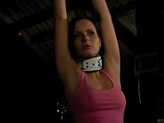 Slave girl punished in bdsm for bad attitude