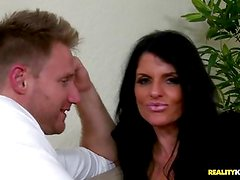 MILF Jade Steele banged by a stud's steak