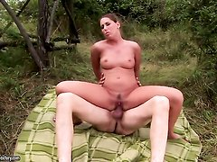 Brunette Orsay cant get enough and takes guys