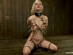 Blonde Cherry Torn gets tortured by James Deen