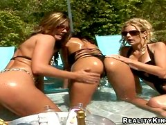 Delightful Ava Addams And Two Lesbian GFs Go Crazy In A Pool