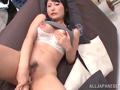 Sweet Japanese Masturbates Using A Giant Dildo In A Solo Model Clip