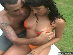 Sweet Isadora Gets Her Pussy Licked Outdoors Before Going Hardcore