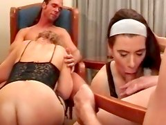 Cream on her adorable shaved cunt