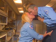 Rough sex with a hot police babe