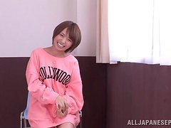 Cute and naughty Asian doll blows her man
