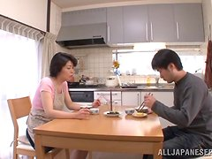 Japanese milf is going to be masturbating hard