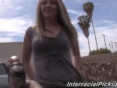 A pretty White girl take a huge BBC in her wet pussy in POV vid
