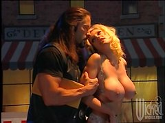 Busty blonde Kaitlyn Ashley gets her pussy pounded hard outdoors