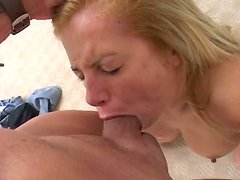 Attractive bitch with bg boopies and deep mouth gets her tits poked.