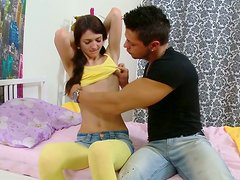 Filthy and kinky whore invites a stranger in her appartments