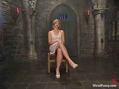 Blonde Getting Dominated and Toyed Crazily in Femdom Video