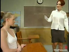 "Masochistic Bitch Teacher Gives A Master Class On ""Electricity Use On FemDom Play""!"