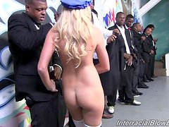 Gorgeous Katie Summers Gets Gangbanged By A Lot Of Black Dudes