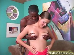Exquisite Katie Thomas Has Interracial Sex With A Black Guy