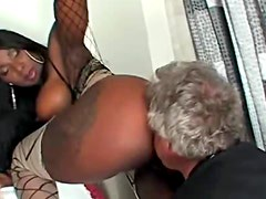 Erotic facesitting with sexy black babe