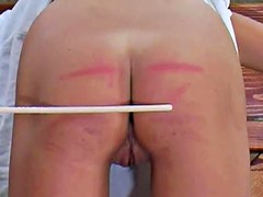 Watch an ass turn red in caning