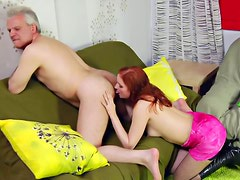 Horny redhead loves to lick asshole