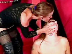 Dominant classy bitch tortures her hot female slave