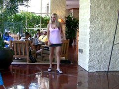 She Breaks Out Her Big Tits in Public and Gets Naughty