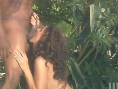 Julia Ann gets her cunt and ass smashed in interracial outdoor scene