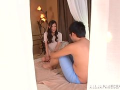 Smoking hot Asian babe Chika Kitano gets fucked